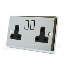 Polished Chrome Classical 2 Gang Socket 13 Amp CPC2GSOCBC