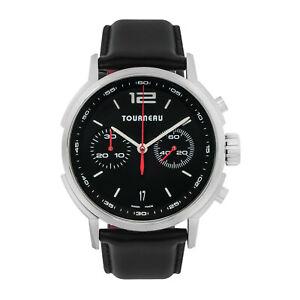 NEW Tourneau Swiss Chronograph Automatic Leather Strap Watch TNY400301003