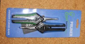 2-Pack Ergonomic Design Straight/Curved Blade Flower Leaf Trimmer Shears NIP