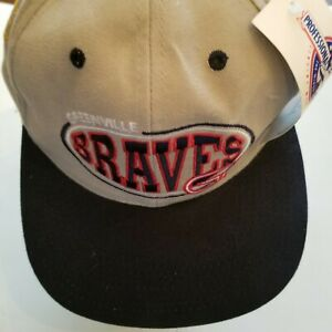 Greenville Braves Hat strap back minor gb 1997 champion tan tags damage stain