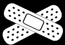 car bandages funny vinyl decal car bumper sticker 290