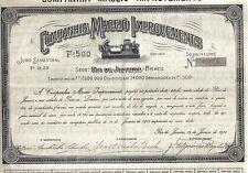 Brazil 1912 Companhia Maceio Improvements Rio de Janeiro 500 fr Uncancelled coup