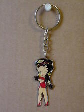 BETTY BOOP KEY CHAIN LOTS 2 PIECES - BIKER GIRL WINKING DESIGN (RETIRED ITEMS)