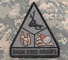 BASIC FOOD GROUPS MORALE TACTICAL BADGE ACU DARK VELCRO® BRAND FASTENER PATCH