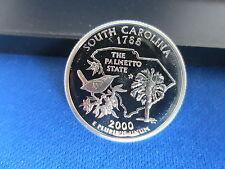2000-S SILVER Quarter SOUTH CAROLINA Deep Cameo Mirror Proof Upper Grading Range