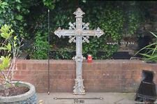 Antique iron cross old vintage church cross cast iron church - 133 cm