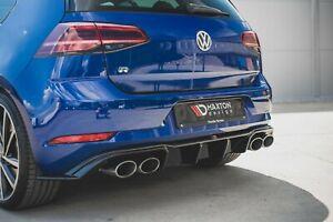 Facelift Golf 7 R GTI GTD R-Line Diffusor Heckansatz Heckdiffusor VW Golf 7,5 R