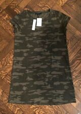 Womens Ladies Camouflage Army Face Ice Cream Ribbon Tunic Casual Shirt Dress Top