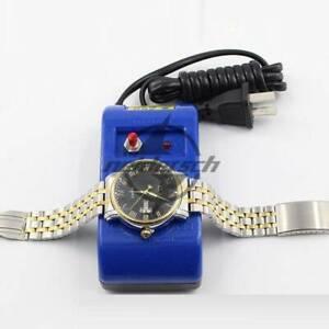 Screwdriver Tweezers Electrical Demagnetise Demagnetizer Tools Blue Watch Repair