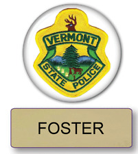 SUPER TROOPERS FOSTER POLICE NAME BADGE & BUTTON HALLOWEEN COSTUME MAGNET BACK
