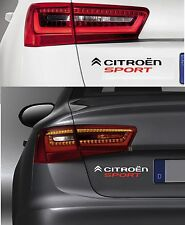 "Per CITROEN ""CITROEN SPORT"" - VINILE Car decalcomania Sticker ds3-ds4-c4 220 x 50mm"