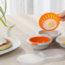 Microwave Oven Two Egg Poacher Sandwich Breakfast Cooker Kitchen Novelty Gadgets