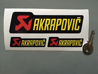 STICKER AUFKLEBER ADESIVI AKRAPOVIC RACING PEGATINA MOTO SET 3