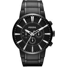 Fossil Men's Townsman Fs4778 Black Stainless-Steel Analog Quartz Fashion Watch