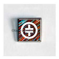 New, Quality Square Metallic Pin Badge - Take That - Lovely Tour Souvenir