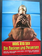 DIE NACKTEN UND PERVERSEN - BOYS AND SEX - Filmplakat A1 - John Tull - EROTIK