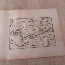 PLAN VILLE DE SARRELOUIS SARLOUIS  LORRAINE 1667 GRAVURE ORIGINALE DU 17° SIECLE