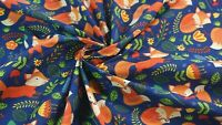 FOX FABRIC Woodland Animal Children's Dressmaking Sewing By Metre SALE CHEAP NEW