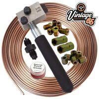 "Brake Pipe Flaring Tool SAE + 3/16"" Kunifer Brake Pipe 10mm Male Female Unions"