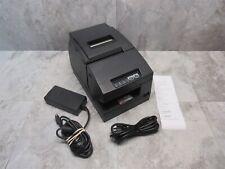 Epson Tm H6000iii Pos Thermal Receipt Printer M147g With Power Plus Card Gray