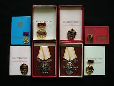 SUPER SET OF ONE PERSON SOVIET RUSSIA BADGE OF HONOR ORDERS, MEDALS, BADGES !!!