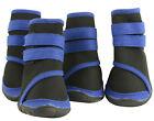 New Pet Dog WaterProof Rain Shoes Boots Socks Non-slip Rubber Shoes Blue stripes