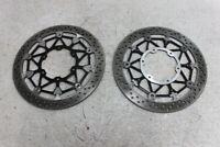 17 18 19 SUZUKI GSXR1000 GSXR 1000 FRONT LEFT RIGHT BRAKE ROTORS DISCS
