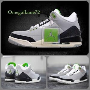 """Nike Air Jordan 3 Retro """"Chlorophyll"""" 136064-006  Sz UK 8.5, EU 43, US 9.5"""