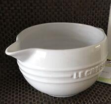Le Creuset Stoneware Mixing Jug -White( BNWT)