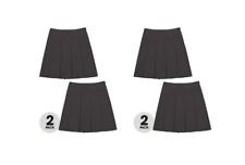 John Lewis The Basics Girls' Pleated Skirt, Pack of 2, Grey Age 6 BNWT RRP £8