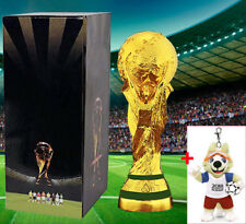"2018 FIFA Russia World Cup Trophy Replica Soccer Championship Souvenir 14"" +GIFT"