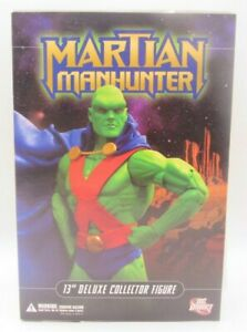 """DC Direct Martian Manhunter 13"""" Deluxe Collector Figure New in Box"""