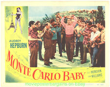 MONTE CARLO BABY LOBBY CARD 11X14 Size Movie Poster Card #3 AUDREY HEPBURN