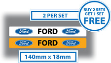 Ford Number Plate Cover Stickers Car Dealer Sales 140mm x 18mm Vinyl Waterproof