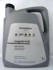 Original VW 0W-30 Audi Seat Skoda Öl LongLife III FE Motoröl 50400/50700 5Liter