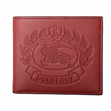Burberry Men's 100% Leather Red Bifold Wallet