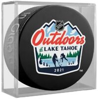 2021 NHL Lake Tahoe Outdoor Event Puck (Bruins, Flyers, Vegas, Avalanche) w/Cube
