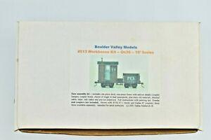 Boulder Valley Models #513 Workboose Cast Resin Kit On30 16 Foot Series