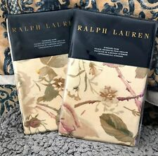 RALPH LAUREN WILTON ROSE FLORAL PAIR OF STANDARD SHAMS ~ NIP 1ST