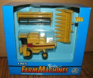 Sperry New Holland TR96 TR86 TR76 Combine & 2 Heads 1/64 Ertl Toy 1992 Farm NIB