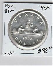 1955 Silver Dollar - MS 60. See pictures.  Item 7499