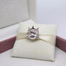Genuine Pandora PRECIOUS PRINCESS Crown Girl Silver Charm Authentic