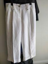 White 3/4 culottes Trousers, size 14,Betty Jackson Black label,