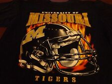 Mizzou Missouri Tigers Football Helmet  T-shirt Medium   F6