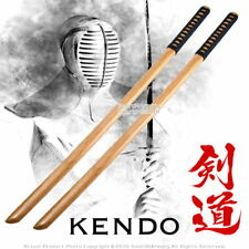 "39 "" Set of 2 Training Katana Wooden Bokken Practice Sword Kendo Bokuto Natural"