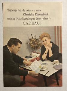 Vintage 1960's Philips Dutch Classical Catalog