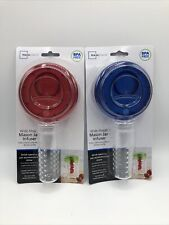 Wide Mouth Mason Jar Infuser accommodates straw 3 color set