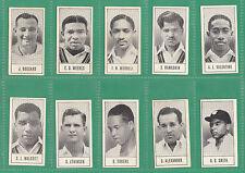 CRICKET  -  BARRATT  -  RARE SET OF 48 TEST CRICKETERS SERIES B CARDS  -  1957