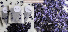 Biodegradable Petal Confetti Violet Delphinium 100 Bag Free Personalised Sticker