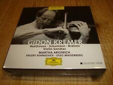 Signed Signiert GIDON KREMER Beethoven Schumann Brahms Violin Sonatas DGG 8 CD